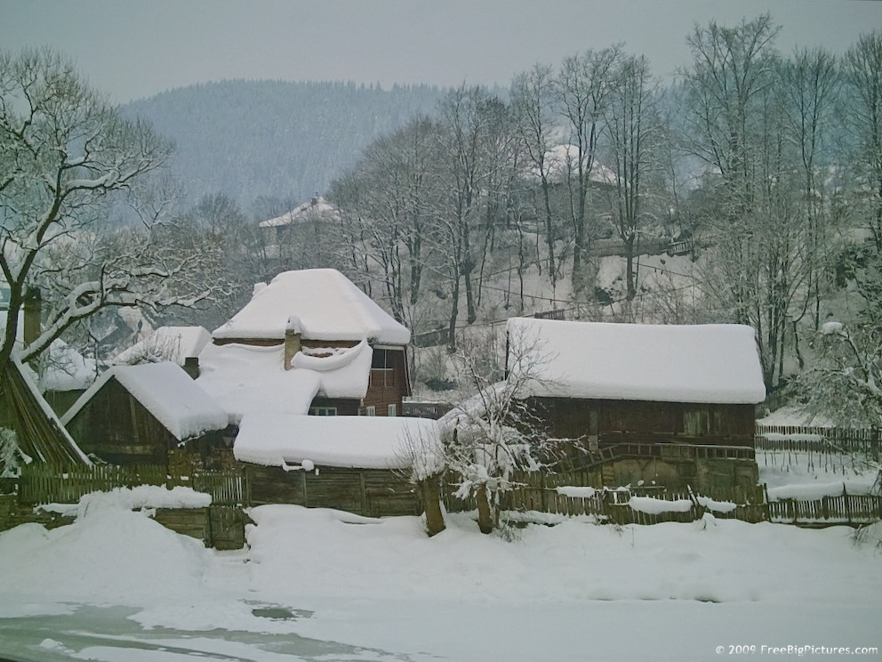 Cartoon House With Snow New Calendar Template Site