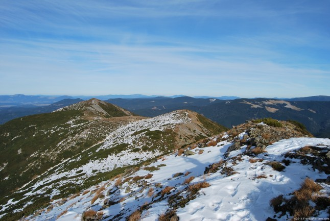 Bistricioru peak – in the Calimani Mountains - under the first snow of winter