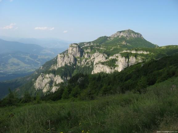 Ceahlau massif with Piatra Ciobanului and Toaca peak