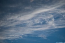 High altitude cirrus clouds on the atmosphere of Earth