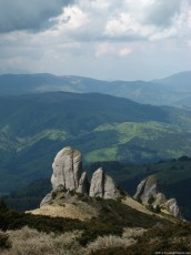 Rocks from Ciucas massif, located in the Romanian Carpathians