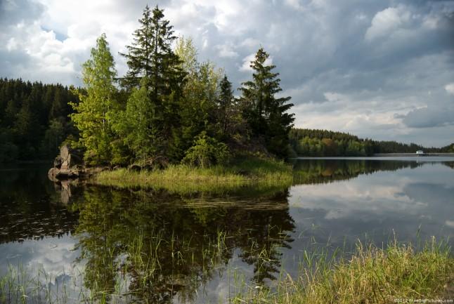 A lake island, behind Zillierbach dam