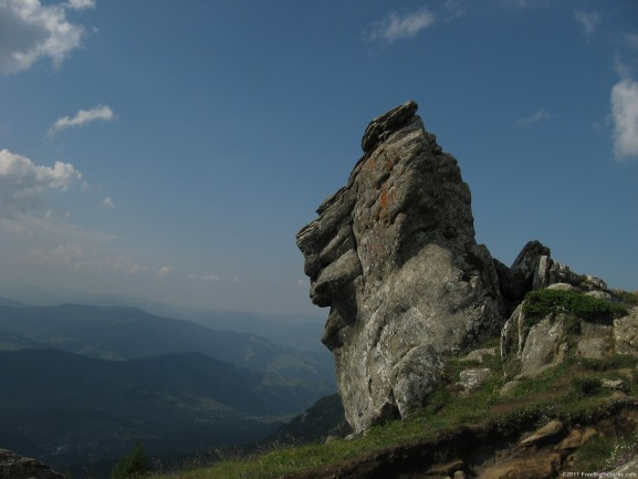 The rock Piatra Lacrimata in Ceahlau - Romania