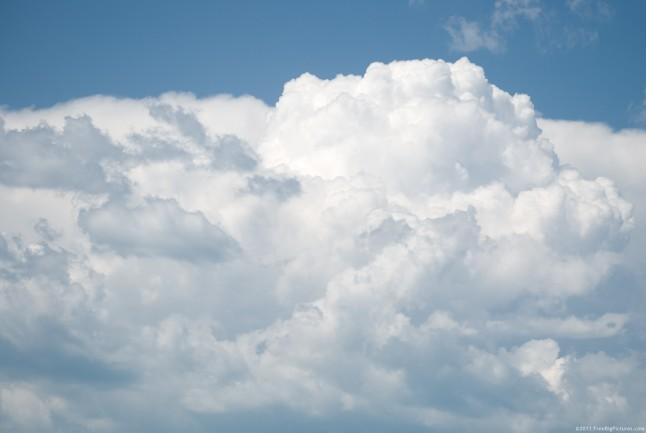 White Swelling Cumulus Clouds